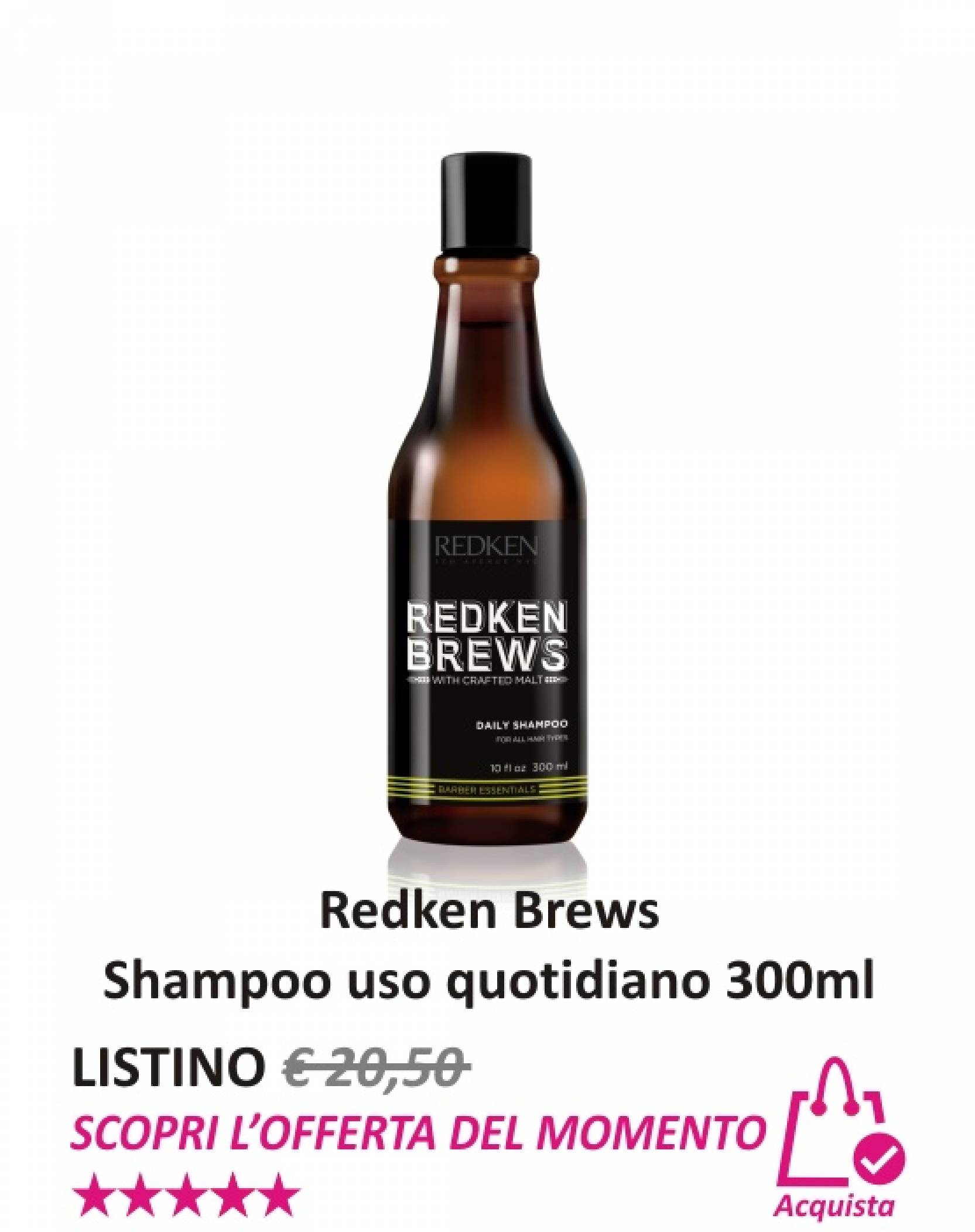 Redken Brews Shampoo uso quotidiano 300 ml
