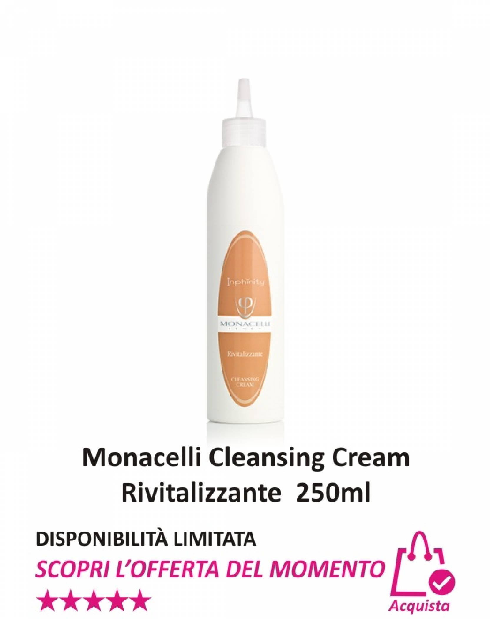 Monacelli Cleansing Cream Rivitalizzante 250 ml
