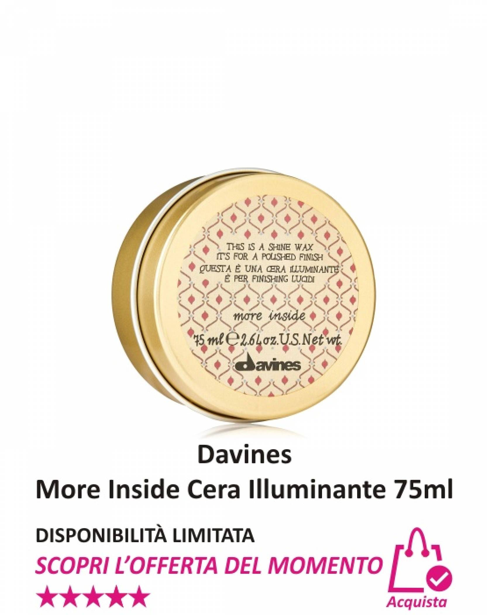 Davines More Inside Cera Illuminante 75 ml